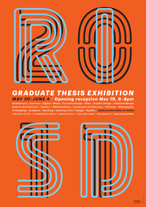 risd graduate thesis exhibition Over the weekend, scores of art students and gallery-goers descended on providence's rhode island convention center to see the 2014 rhode island school of design's (risd) annual graduate thesis exhibition the convention center, a stone's throw from risd's campus in burgeoning downcity.