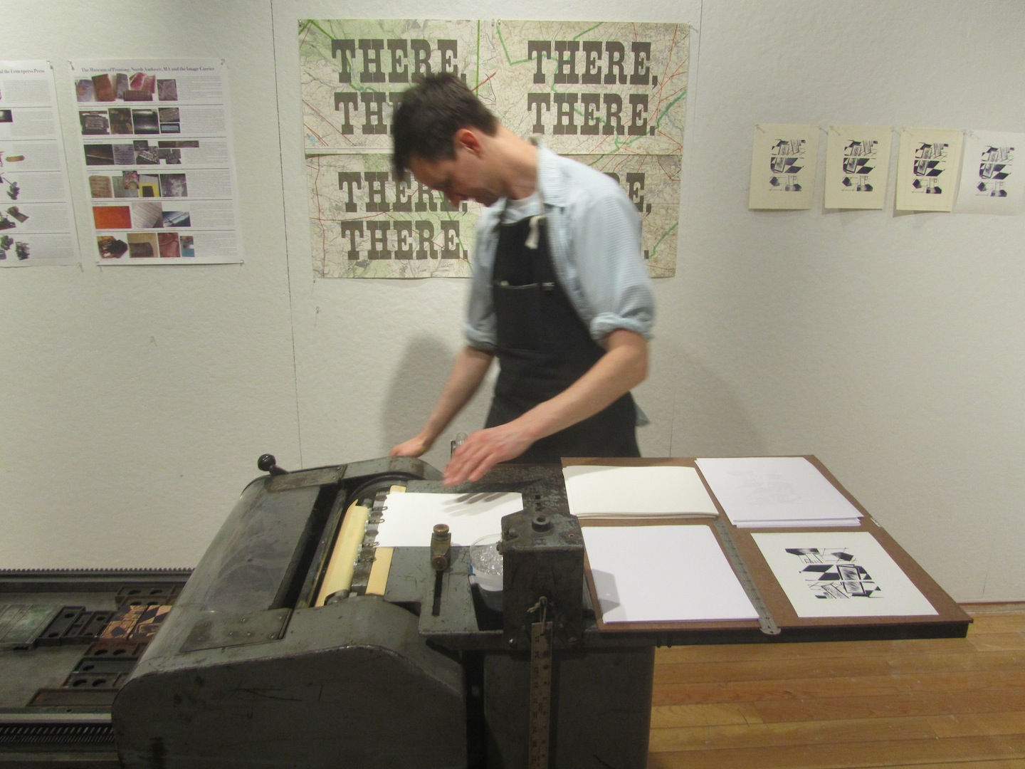 Ali Printing on vandercook
